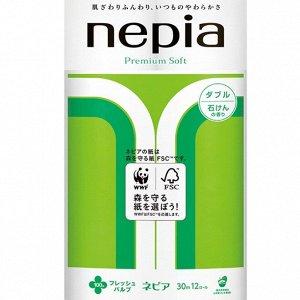 Туалетная бумага NEPIA Premium Soft - Ароматизированная двухслойная туалетная бумага 30м (12 рулонов)
