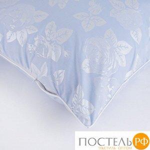 Наперник Тик кант молния Розы цвет голубой 60/60