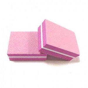 Микробаф с пластиковой прослойкой 100/180 розовый, 3.5*2.5см