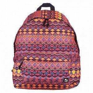"Рюкзак BRAUBERG универсальный, сити-формат, оранжевый, ""Сафари"", 23 литра, 43х34х15 см, 226413"