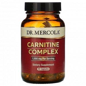 Dr. Mercola, комплекс карнитина, 1000 мг, 60 капсул