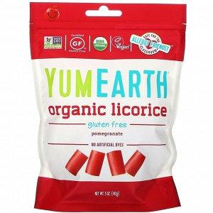YumEarth, Мягкая пищевая безглютеновая гранатовая лакрица + вкусная, 5 унций (142 г)