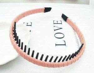 Ободок для волос с зубьями, цвет светло-розовый, 2 шт