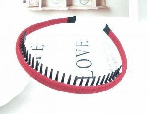 Ободок для волос с зубьями, цвет розовый, 2 шт