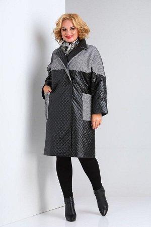 Пальто Пальто SOVITA 2126  Состав: ПЭ-100%; Сезон: Осень-Зима Рост: 170  Пальто женское, на подкладке, изготовлено из 2-х видов ткани .Эко-кожи, простеганной на синтепоне и мягкого пальтового меланже