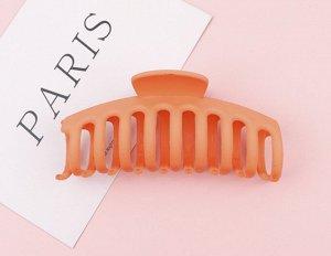 Крабик для волос, цвет оранжевый, 2 шт