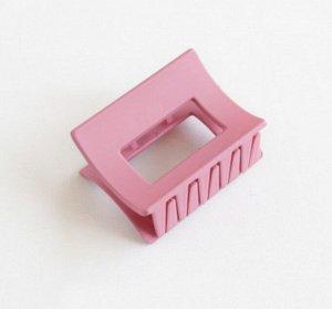 Крабик для волос прямоугольный, цвет розовый, 2 шт