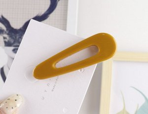 Заколка-зажим для волос, цвет желтый