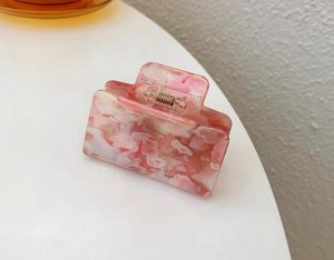 Крабик для волос квадратный, цвет красно-розовый, 2 шт