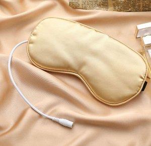 Маска для сна с USB и вкладышем с ароматом лаванды, цвет бежевый