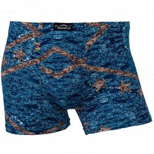 Трусы Модель: шорты. Цвет: синий. Комплектация: трусы. Состав: хлопок-70%, бамбуковое волокно-22%, спандекс-8%. Бренд: Veenice. Фактура: принт.