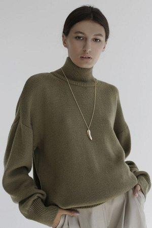 Свитер Модель: свитер. Цвет: зелёный. Комплектация: свитер. Состав: шерсть-50%, акрил-50%. Бренд: aim. Фактура: однотонная. Плотность: средняя.