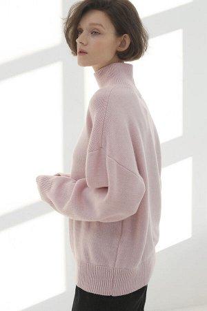 Свитер Модель: свитер. Цвет: розовый. Комплектация: свитер. Состав: шерсть-50%, акрил-50%. Бренд: aim. Фактура: однотонная. Плотность: средняя.