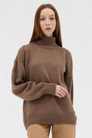 Свитер Модель: свитер. Цвет: коричневый. Комплектация: свитер. Состав: шерсть-50%, акрил-50%. Бренд: aim. Фактура: однотонная. Плотность: средняя.