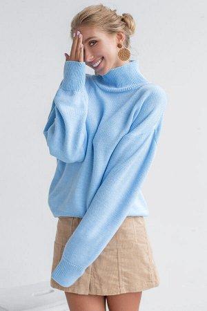 Свитер Модель: свитер. Цвет: голубой. Комплектация: свитер. Состав: шерсть-50%, акрил-50%. Бренд: aim. Фактура: однотонная. Плотность: средняя.