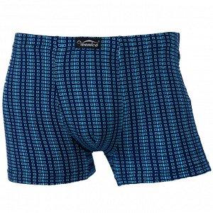 Трусы Модель: шорты. Цвет: синий. Комплектация: трусы. Состав: хлопок-70%, бамбуковое волокно-22%, спандекс-8%. Бренд: Veenice. Фактура: узор.