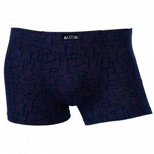 Трусы Модель: шорты. Цвет: синий. Комплектация: трусы. Состав: хлопок-80%, бамбуковое волокно-15%, спандекс-5%. Бренд: AMIGO. Фактура: принт.
