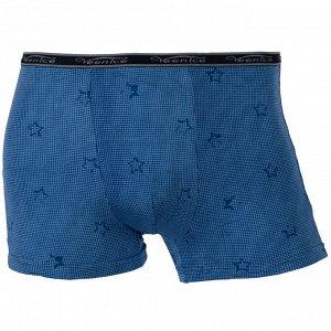 Трусы Модель: шорты. Цвет: синий светлый. Комплектация: трусы. Состав: хлопок-70%, бамбуковое волокно-22%, спандекс-8%. Бренд: Veenice. Фактура: принт.