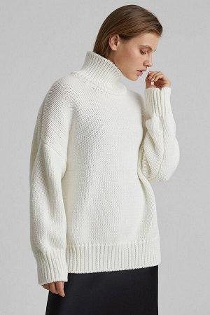 Свитер Модель: свитер. Цвет: белый. Комплектация: свитер. Состав: шерсть-50%, акрил-50%. Бренд: aim. Фактура: однотонная. Плотность: толстая.