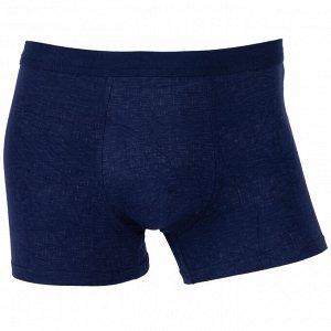 Трусы Модель: шорты. Цвет: синий. Комплектация: трусы. Состав: хлопок-80%, бамбуковое волокно-15%, спандекс-5%. Бренд: AMIGO. Фактура: узор.