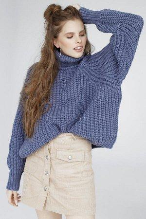 Свитер Модель: свитер. Цвет: синий. Комплектация: свитер. Состав: шерсть-50%, акрил-50%. Бренд: aim. Фактура: однотонная. Плотность: толстая.