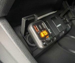 Автомобильное зарядное устройство Earldom M63 2*USB +1 Type C + FM-трансмиттер, 3.0A, черный, дисплей