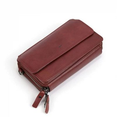 Кожаные сумки и рюкзаки по доступной цене — Мужская сумка-портмоне / клатч