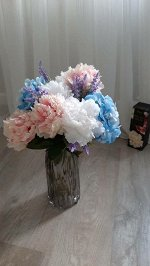 "Цветок ""Peony Plush"" Floox, 14х8х50 см, цв.белый, комбинированные материалы"