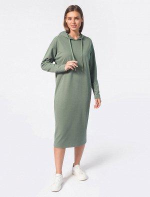 Платье из фактурного трикотажа.