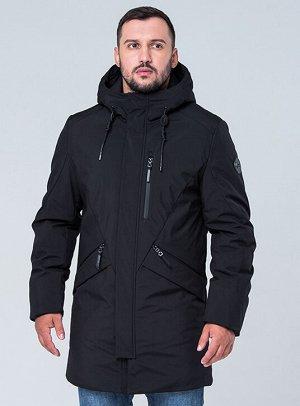 Демисезон Мужская парка с капюшоном торговой марки VIZANI. Среди особенностей куртки можно выделить приятную на ощупь ткань верха, а так же большое количество карманов (в том числе внутренних). С лево