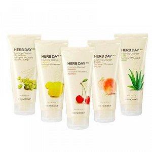 THE FACE SHOP Herb Day 365 Cleansing Foam Mung Beans Очищающая пенка с экстрактами бобов Мунгомбы 170ml