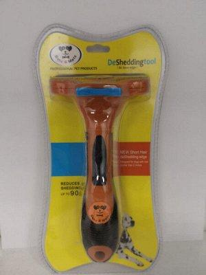 Расческа-триммер с самоочисткой для короткошерстных собак S 4.5см PerseliLine
