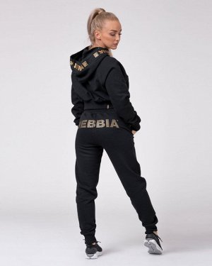 Штаны женские NEBBIA Sweatpants Gold Classic (черный)(826)