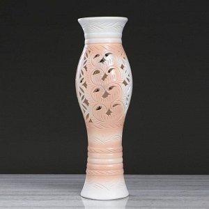 """Ваза напольная """"Даша"""", резная, ровозый цвет, 67 см, керамика"""