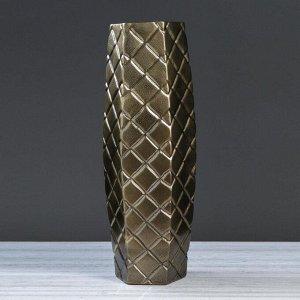 """Ваза напольная """"Ромб"""", 71 см, бронзовый цвет, керамика"""