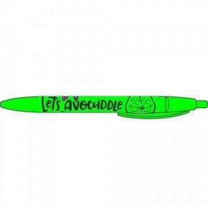 """Ручка автоматическая шариковая прорезиненная """"Let's avocuddle"""" 0.7мм синяя 87905 Centrum {Китай}"""