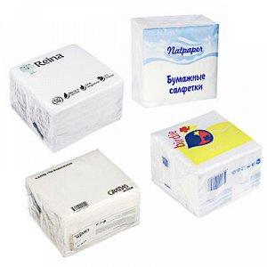 Салфетки бумажные однослойные п/п 100шт Natpaper/REINA арт.000213