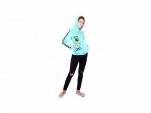 Толстовка Мягкая и удобная толстовка для девочки Jewel Style на молнии, с ярким принтом идеально подходит для повседневной носки и занятий спортом. Изготавливается из натурального материала высочайшег