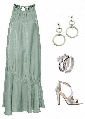 Платье миди из бле