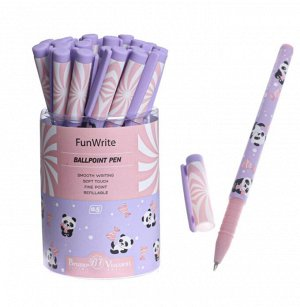 """Ручка шариковая FunWrite """"Lolipop.Пандочки"""", 0,5 мм, синие чернила"""
