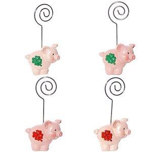 "Держатель для визиток ""Свинка"", L4,6 W2,7 H7,8см, 4в"