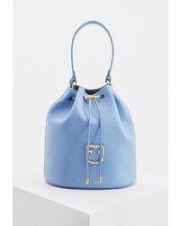 Сумка-мешок Furla голубого цвета