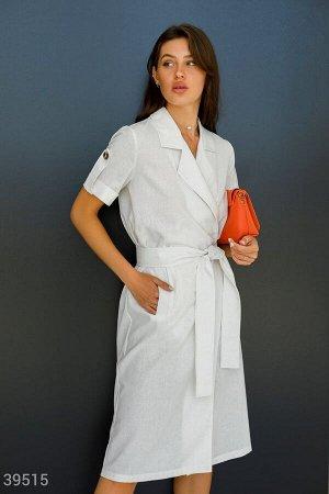 Белое платье на запх