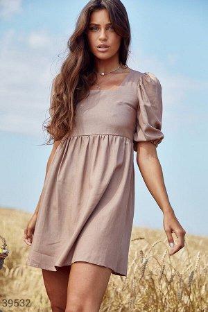 Льняное платье с открытой спинкой
