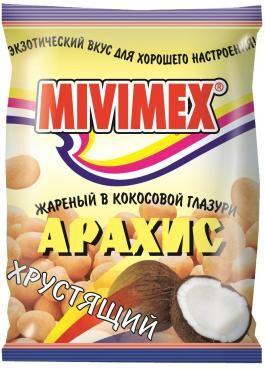 """Арахис """"MIVIMEX"""" жареный в кокос. глазури 25г.*4шт"""