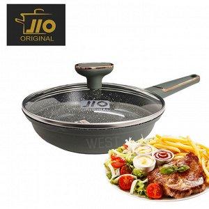 """Сковорода с каменным покрытием JIO """"Black Marble"""" / 20 см"""