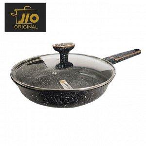 """Сковорода с каменным покрытием JIO """"Black Marble"""" / 22 см"""