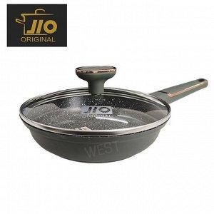 """Сковорода с каменным покрытием JIO """"Black Marble"""" / 24 см"""