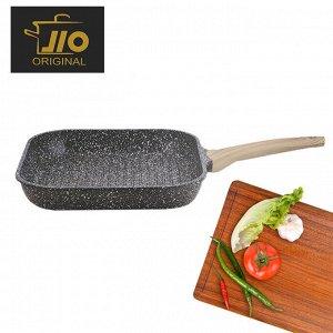 """Сковорода - гриль с гранитным покрытием JIO """"Granite Line"""" / 28 x 28 см"""