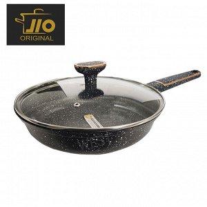 """Сковорода с каменным покрытием JIO """"Black Marble"""" / 26 см"""